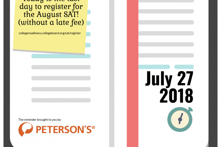 SAT Registration Deadlines 2018-2019 - Peterson's