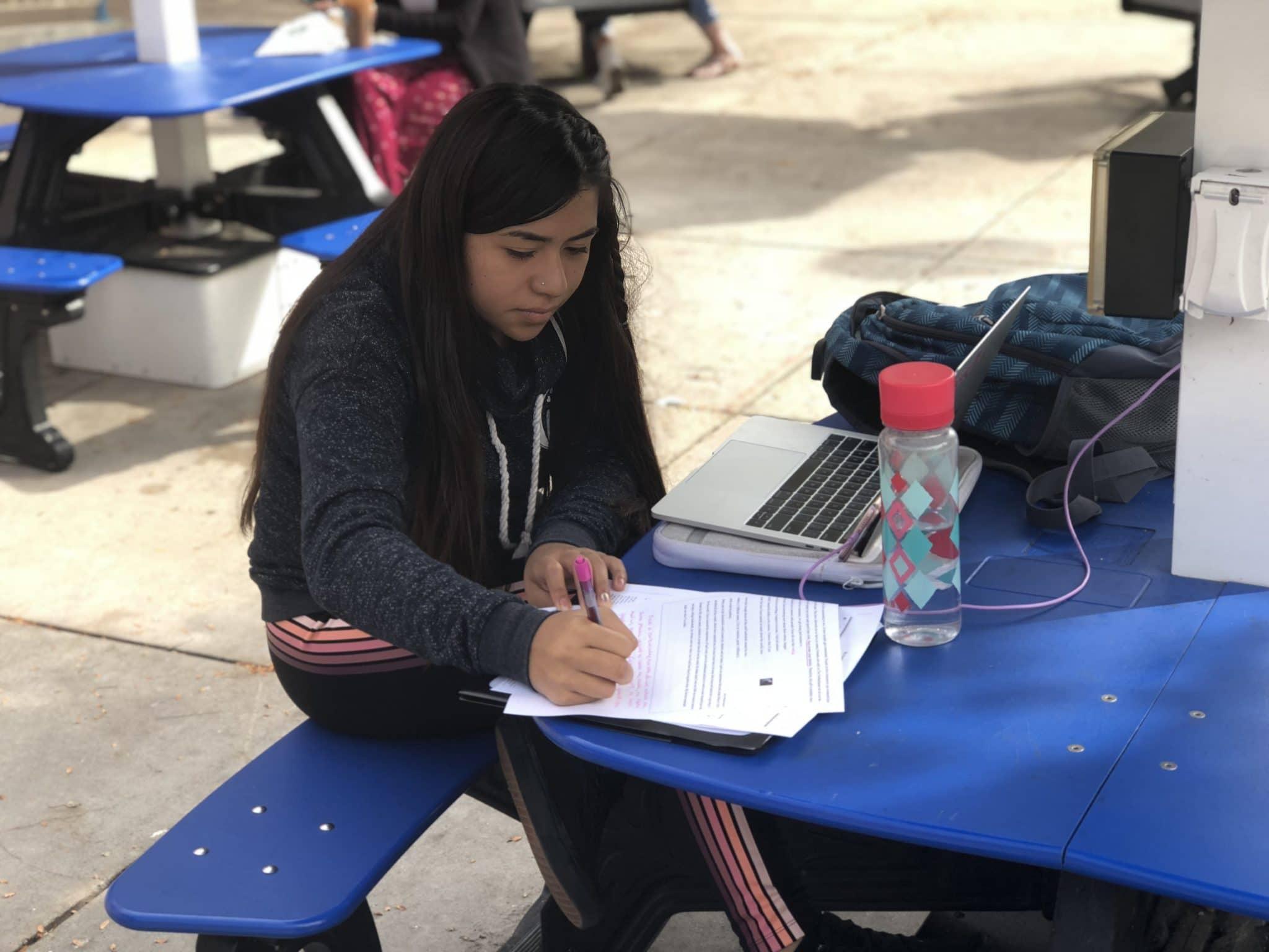 Carla Ordaz, student at the University of Colorado, Denver. Photo by Taylor Sienkiewicz.