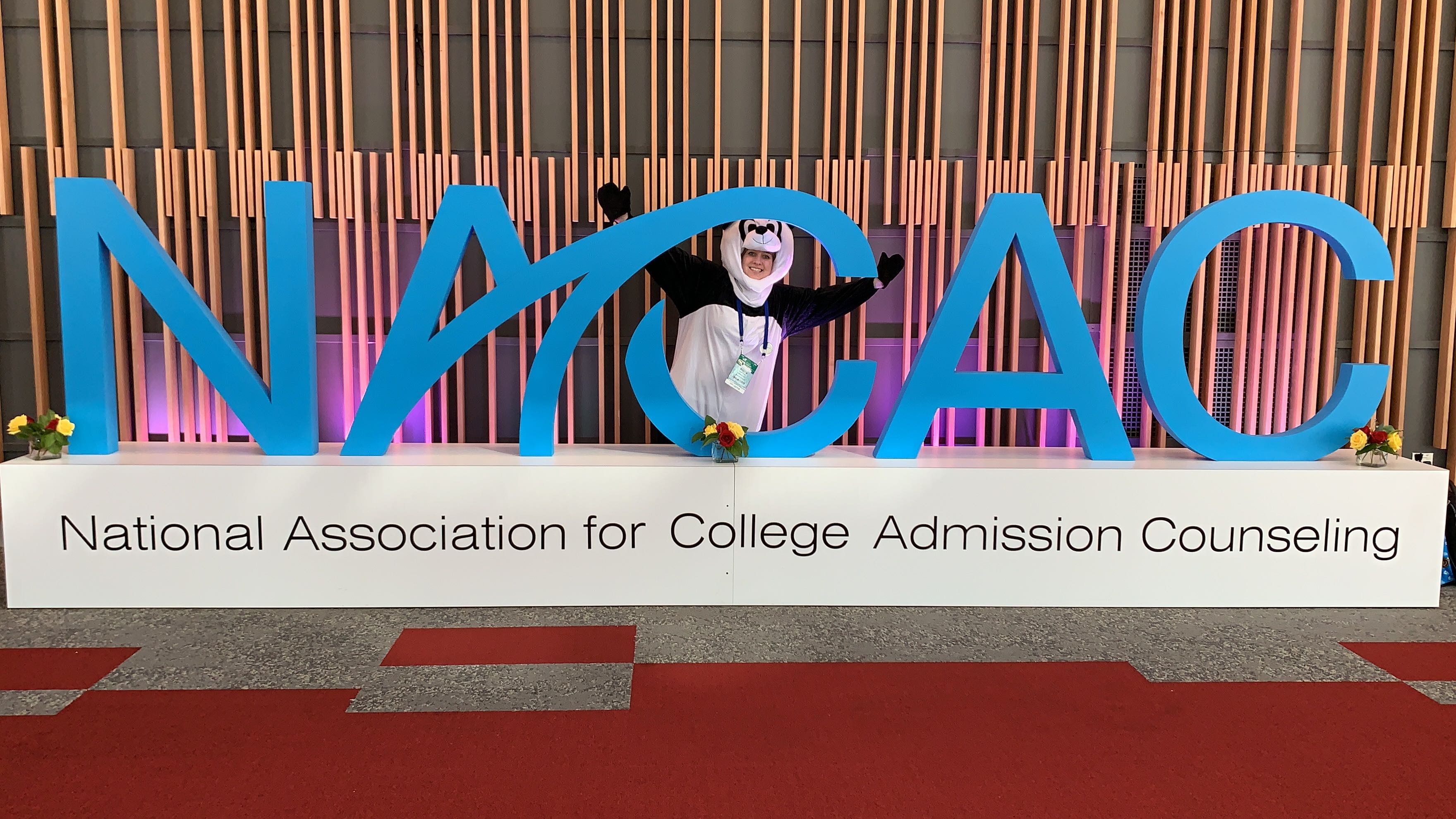 Pete the panda at NACAC