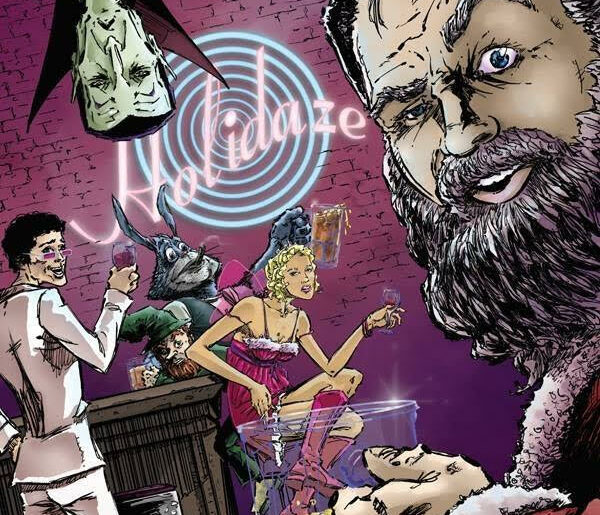 Comic Book Cover from Creator Dave Dellecese's series Holidaze