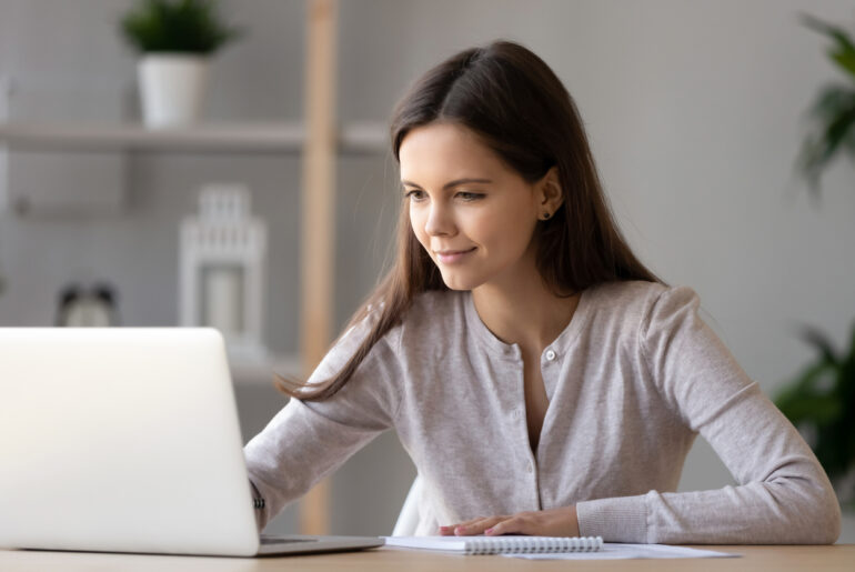 woman studying for accuplacer exam