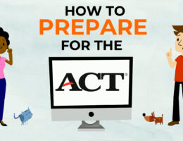 illustration of students learning how to prepare for the ACT