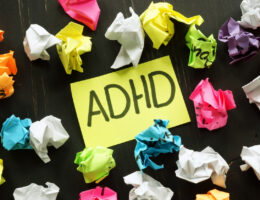 crumbled up notes from an adult learner with adhd